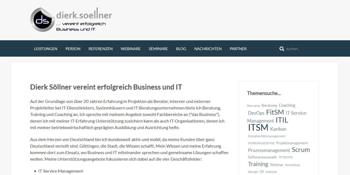 Dierk Söllner - Business und IT